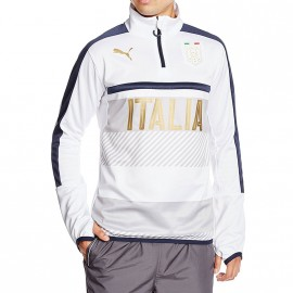 Sweat Figc 1/4 Zip Italie Football Blanc Garçon Puma