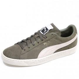 Chaussures Suède Classic + Kaki Homme Puma