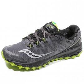 Chaussures Peregrine 7 Gris Noir Trail Homme Saucony