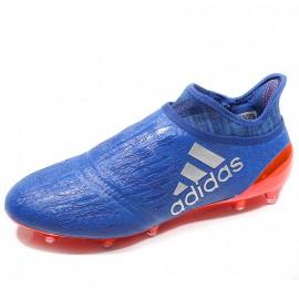 Chaussures X 16+ Purechaos FG Bleu Football Homme Adidas