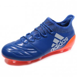Chaussures X 16.1 FG Leather Bleu Football Homme Adidas