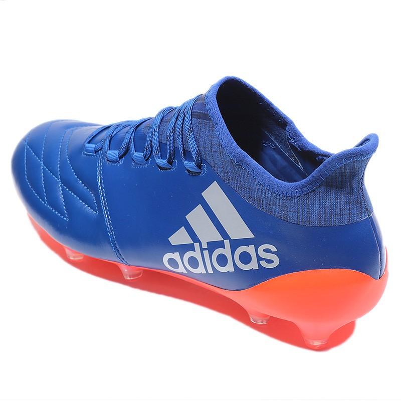 Chaussures X 16.1 FG Leather Bleu Football Homme Adidas