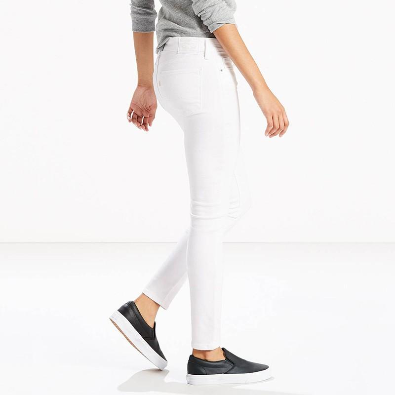 jean 711 skinny soft clean blanc femme levi 39 s. Black Bedroom Furniture Sets. Home Design Ideas