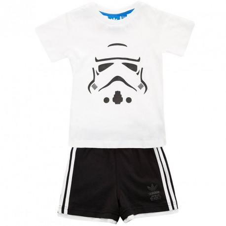 ensemble star wars set blanc b b gar on adidas. Black Bedroom Furniture Sets. Home Design Ideas