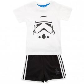 Ensemble Star Wars Set Blanc Bébé Garçon Adidas