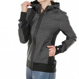 Veste Coupe-vent Ultra Jacket Running Gris Femme Adidas