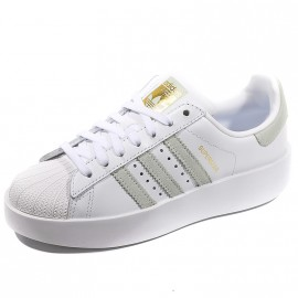 Chaussures Superstar Bold Blanc Femme Adidas