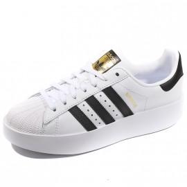 Chaussures Superstar Bold Blanc Noir Femme Adidas