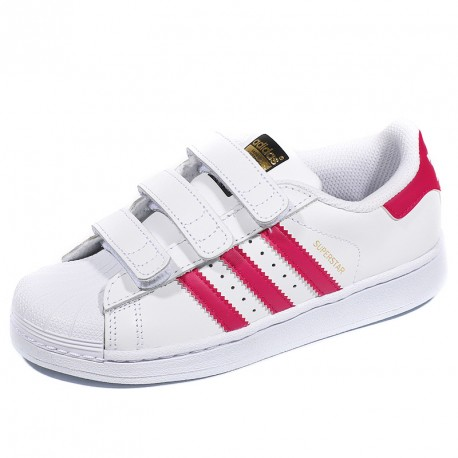 chaussures superstar foundation cf blanc rose fille adidas. Black Bedroom Furniture Sets. Home Design Ideas