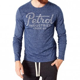 Tee-Shirt Bleu Homme Pétrol Industries