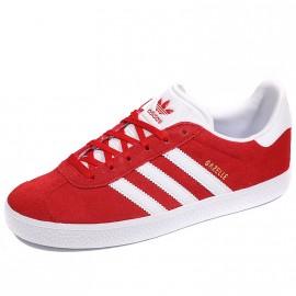 Chaussures Gazelle Rouge Garçon Fille Femme Adidas