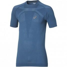 Tee-shirt Sans Coutures Running Bleu Homme Asics