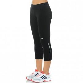Collant 3/4 Running Noir Femme Adidas