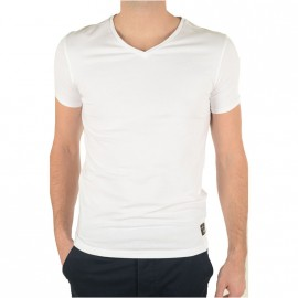 Tee-shirt Slim Blanc Homme Guess