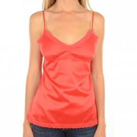 Top Satin Rouge Femme Guess