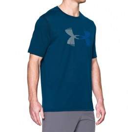 Tee-shirt Hazard Logo Bleu Homme Under Armour