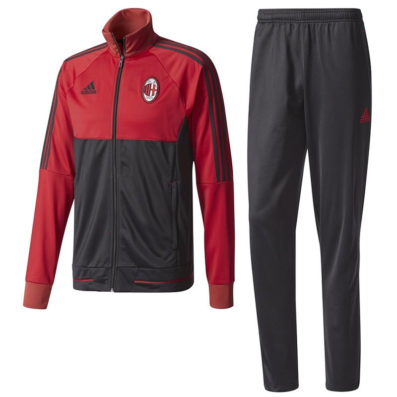 Survêtement Milan AC Football Noir Homme Adidas