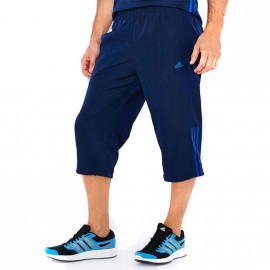 Pantalon 3/4 Base 3S Bleu Homme Adidas