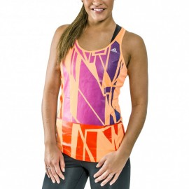 Débardeur Graphic Tank Orange Femme Adidas