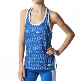 Débardeur Sport Tank Aop Bleu Femme Adidas
