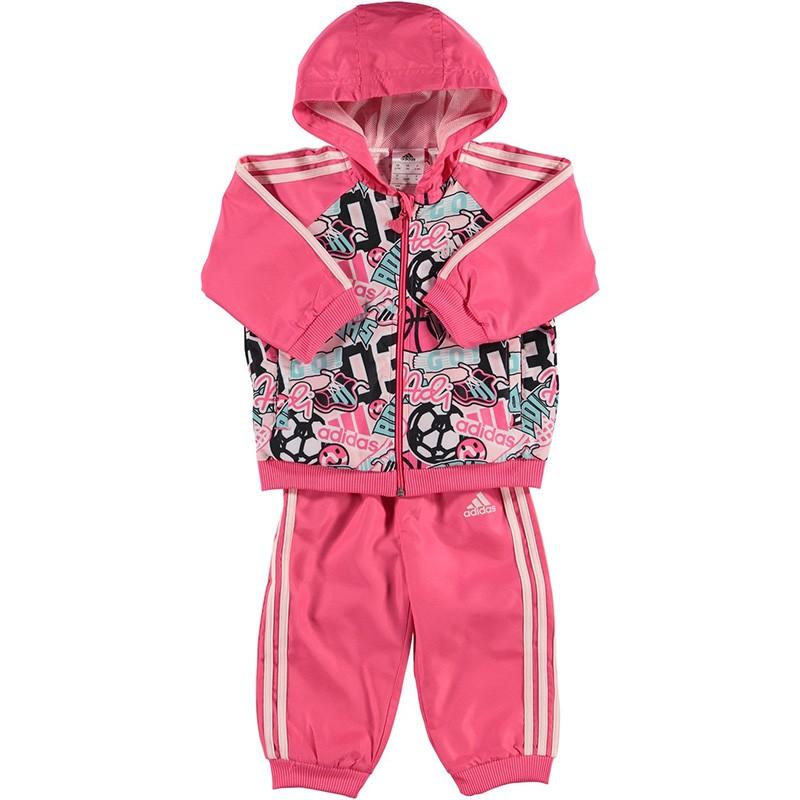Survêtement Fille Rose Adidas