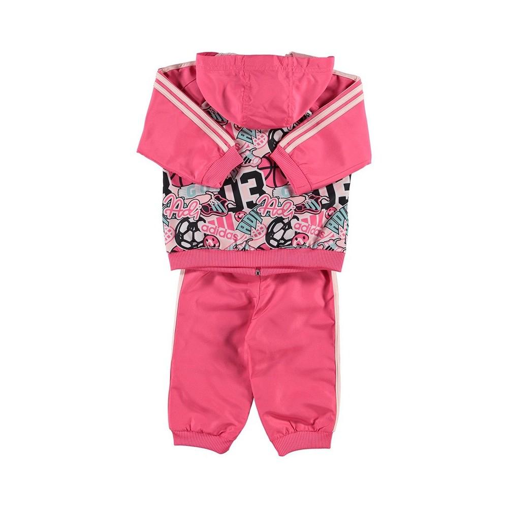 Détails sur Survêtement Fille Rose Adidas Rose