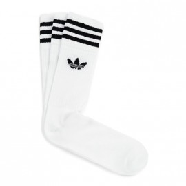 Chaussettes SOLID CREW SOCK Blanche Femme Homme Adidas