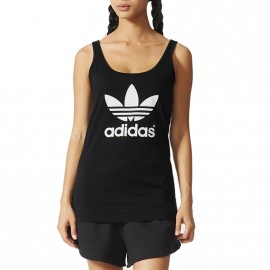 Débardeur Trefoil Noir Femme Adidas
