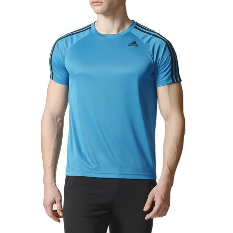 online retailer 63413 6e658 Tee-shirt Entrainement Bleu Homme Adidas