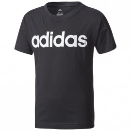 Tee Shirt Linear Garçon Noir Adidas