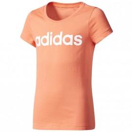 Tee Shirt Linear Fille Orange Adidas