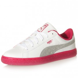Chaussures Iced Glitter 2 Blanc Rose Femme Fille Puma