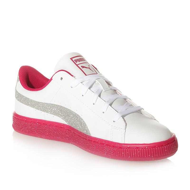 Chaussures Iced Glitter 2 Blanc Rose Femme Fille Puma hFE4mHj0j3