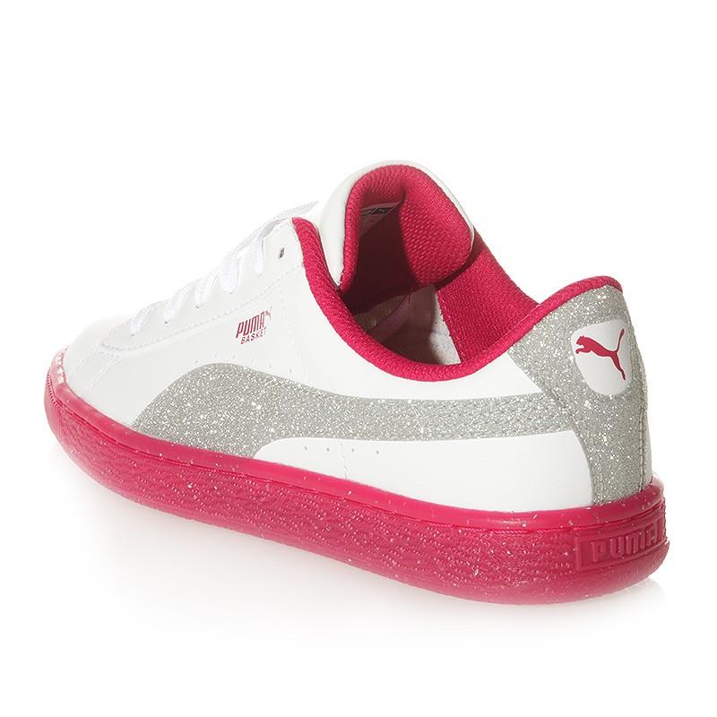 Chaussures Iced Glitter 2 Blanc Rose Femme Fille Puma R5cktDu