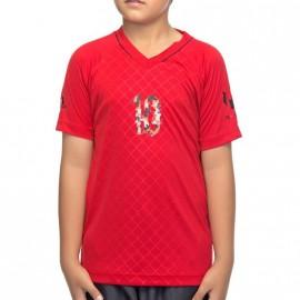 Tee shirt Messi Football Garçon Rouge Adidas