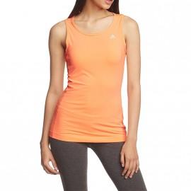 Débardeur Orange Fluo Sport Femme Adidas
