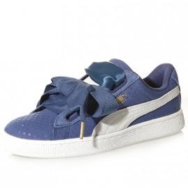 Chaussures Heart Denim Bleu Femme Fille Puma