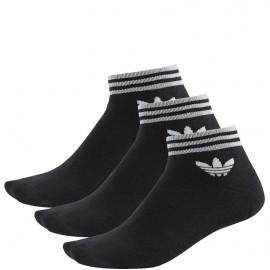 Chaussettes Trefoil Noir Homme Femme Adidas