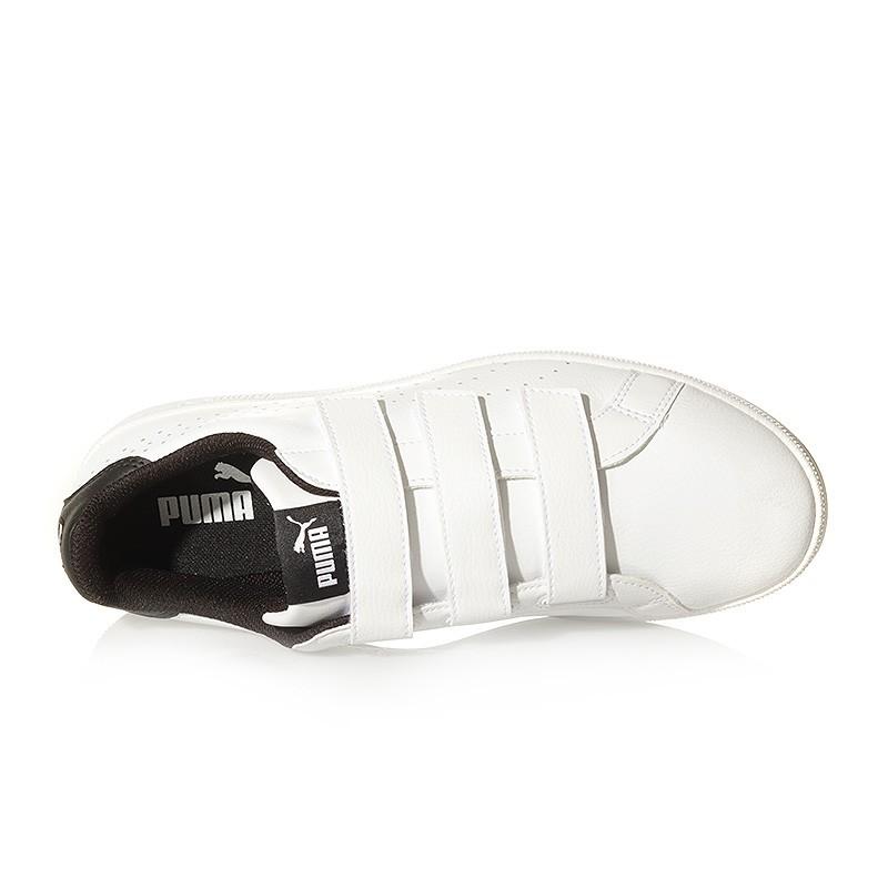 Velcro Puma Noir Blanc Smash Homme Chaussures Fwqx5TOXT