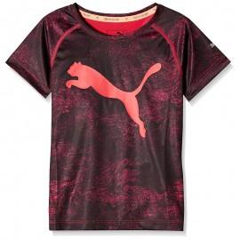 Tee shirt Sport Noir Fille Puma