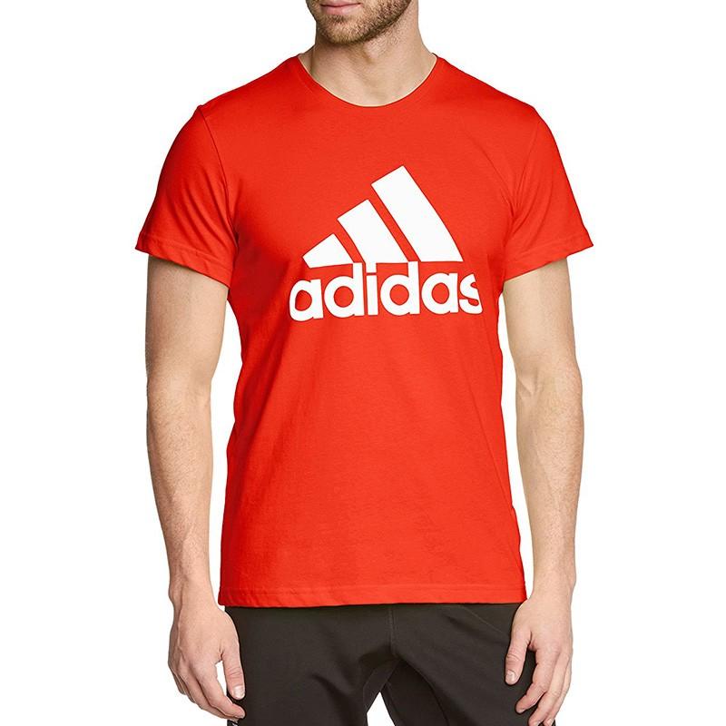 Tee Shirt Logo Orange Homme Adidas