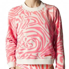 Sweat Stella Mc Cartney Rose fluo Femme Adidas