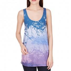 Top Drapy Yoga Bleu Femme Adidas