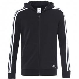 Sweat zippé Garçon Noir Adidas