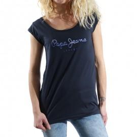 Tee shirt Gwyneth Marine Femme Pépé Jeans