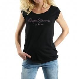 Tee shirt Catlin Noir Femme Pépé Jeans