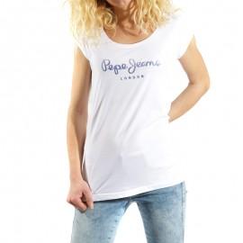 Tee shirt Gwyneth Blanc Femme Pépé Jeans