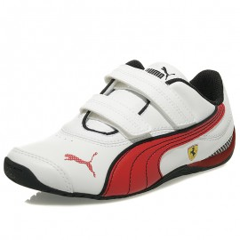 Chaussures Drift Cat 3 Scuderia Ferrari V Blanc Garçon Puma