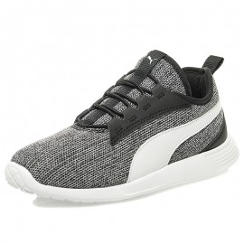 Chaussures Trainer Evo V2 Knit Blanc Noir Fille Garçon Puma