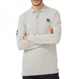 Polo Manches longues Homme Gris Franck Ferry